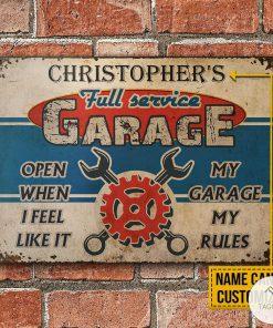 Personalized Auto Mechanic Garage Open When I Feel Like It Metal Signsz