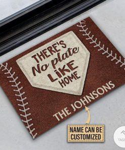 Personalized Baseball No Plate Like Home Doormatc