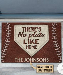 Personalized Baseball No Plate Like Home Doormatz