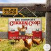 Personalized Chicken Coop Farm Fresh Eggs Daily Rectangle Wood Sign