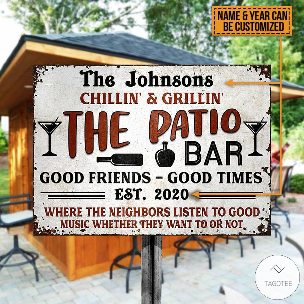 Personalized Chillin And Grilling The Patio Bar Backyard Personalized Grilling Patio Backyard Metal Signs