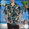 Personalized Face Photo Tropical Hawaiian Shirt
