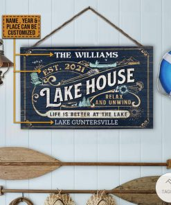 Personalized Lake House Life Better At The Lake Rectangle Wood Sign