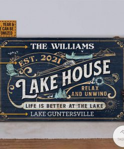 Personalized Lake House Life Better At The Lake Rectangle Wood Signz