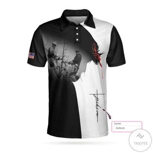 Personalized Lineman I Can Do All Things Through Christ Polo Shirt