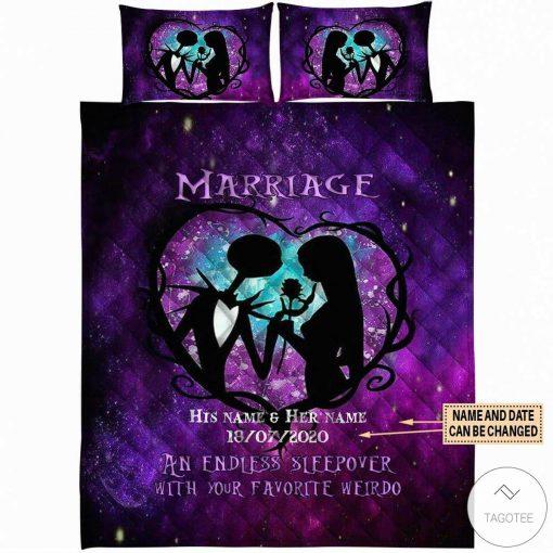 Personalized Marriage An Endless Sleepover With Your Favourite Weirdo Bedding Setc