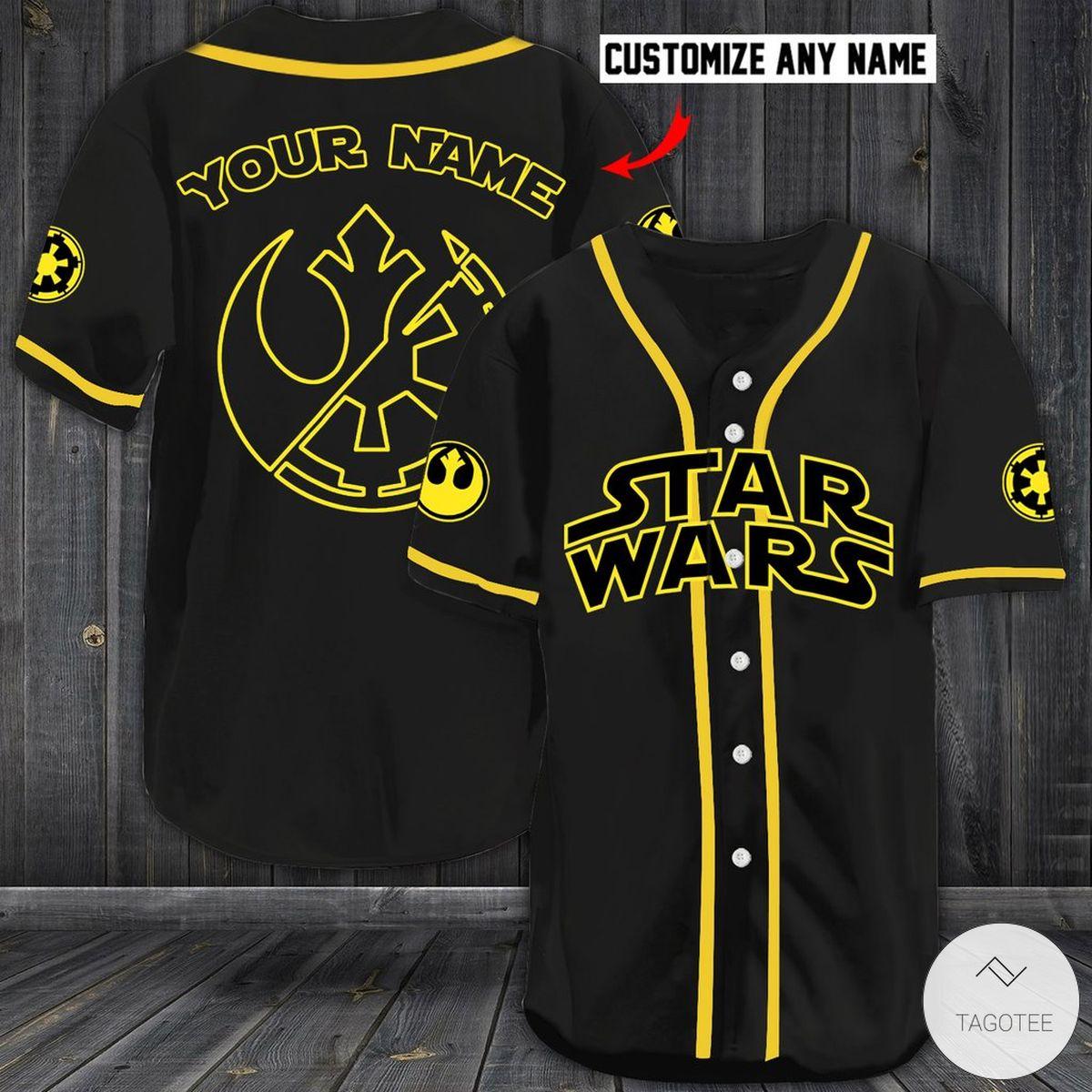 Personalized Star Wars Baseball Jersey