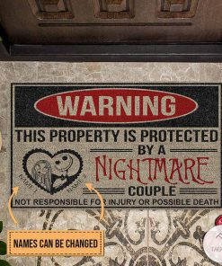 Personalized This Property Is Protected By A Nightmare Couple Doormat