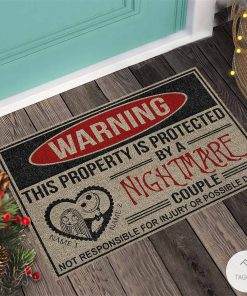 Personalized This Property Is Protected By A Nightmare Couple Doormatc