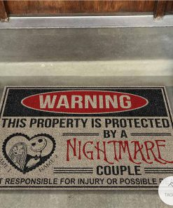Personalized This Property Is Protected By A Nightmare Couple Doormatx