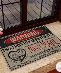 Personalized This Property Is Protected By A Nightmare Couple Doormatz