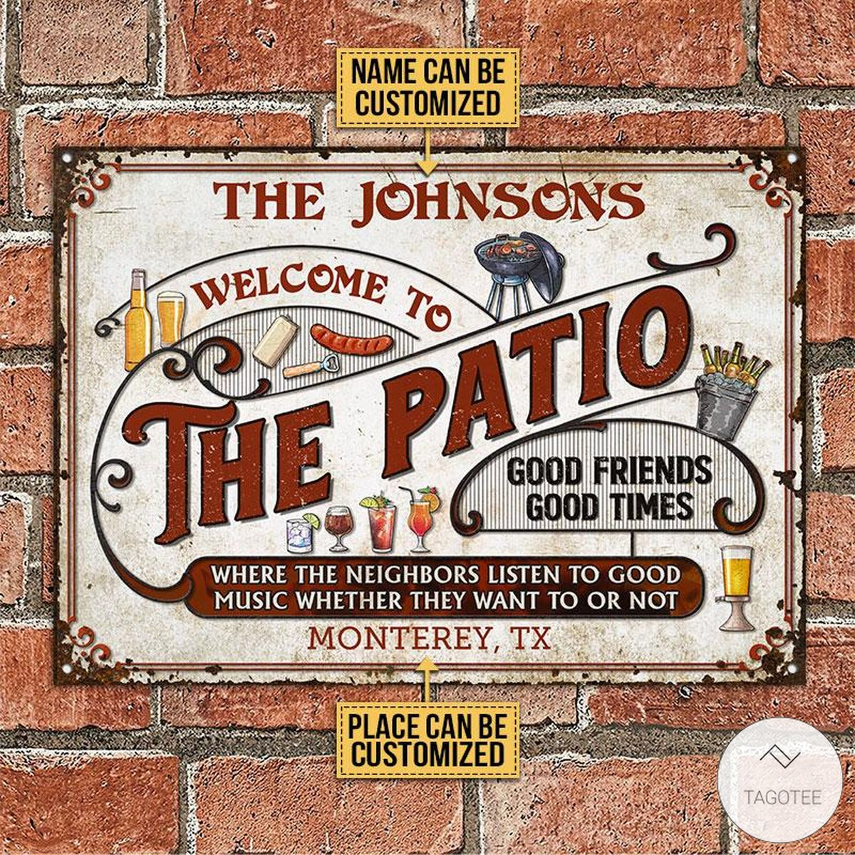Personalized Welcome To The Patio Grilling Metal Signsz