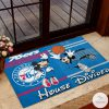 Philadelphia 76ers House Divided Orlando Magic Mickey Mouse And Minnie Mouse Doormat