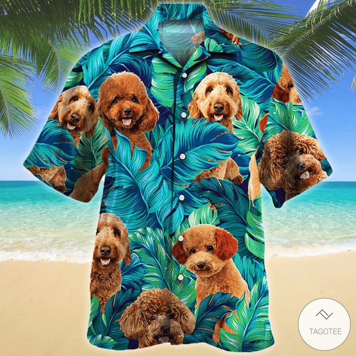 Poodle Dog Hawaiian Shirt