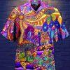 Psychedelic Hippy Peace Hawaiian Shirt