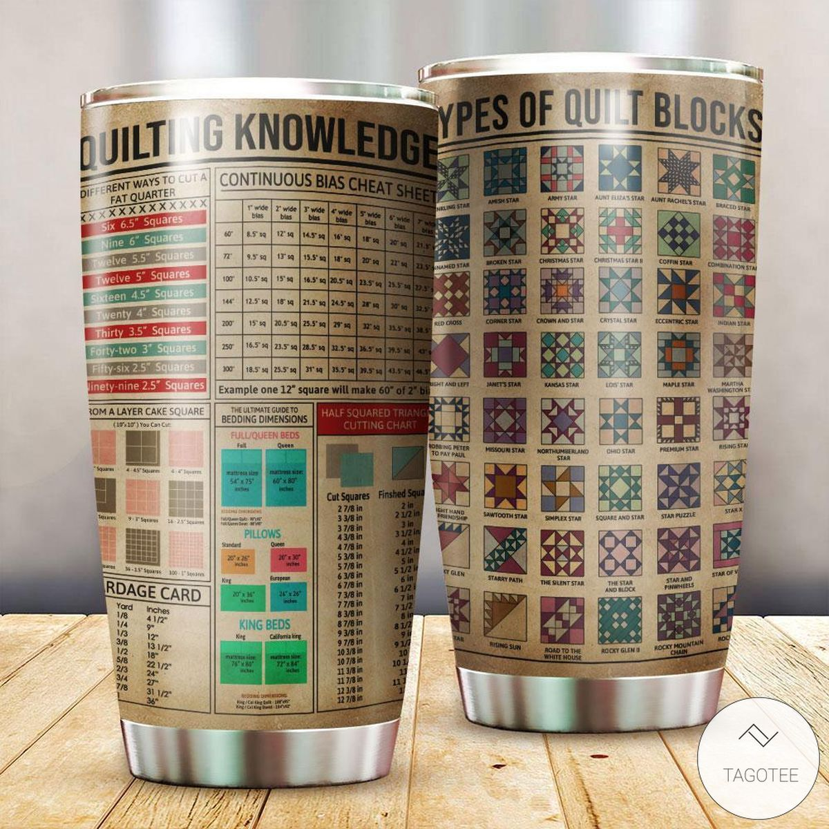 Quilting Knowledge Types Of Quilt Blocks Stainless Steel Tumbler