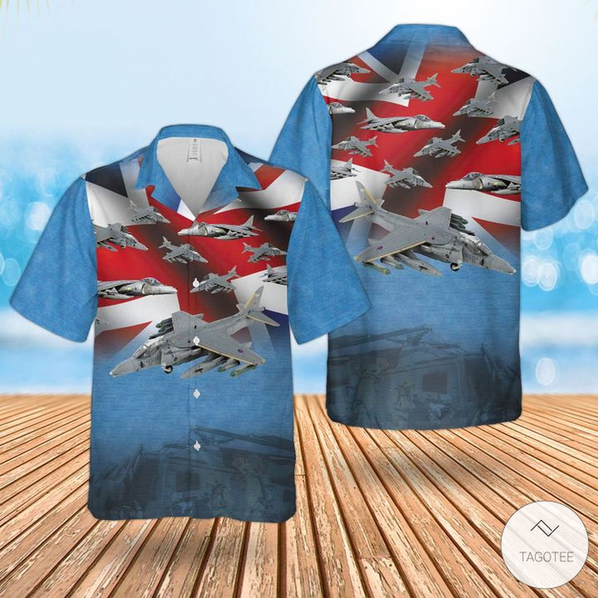 RAF British Aerospace Harrier IiHarrier Gr7 Hawaiian Shirt, Beach Shorts