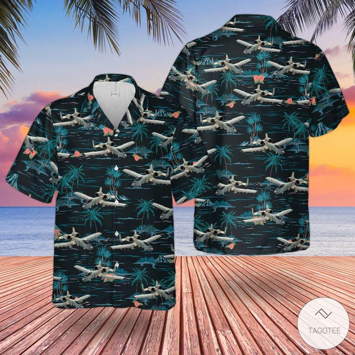 RAF Historical Fairchild Republic A-10A Thunderbolt Ii Hawaiian Shirt, Beach Shorts