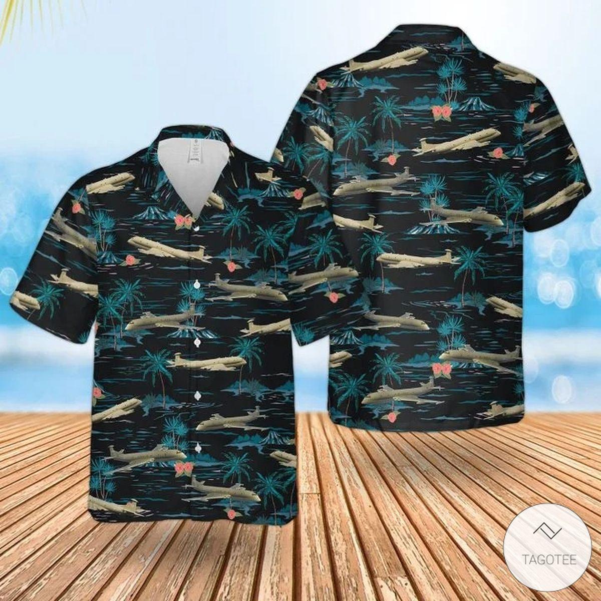 3D RAF Historical Nimrod Mr 2 Hawaiian Shirt, Beach Shorts