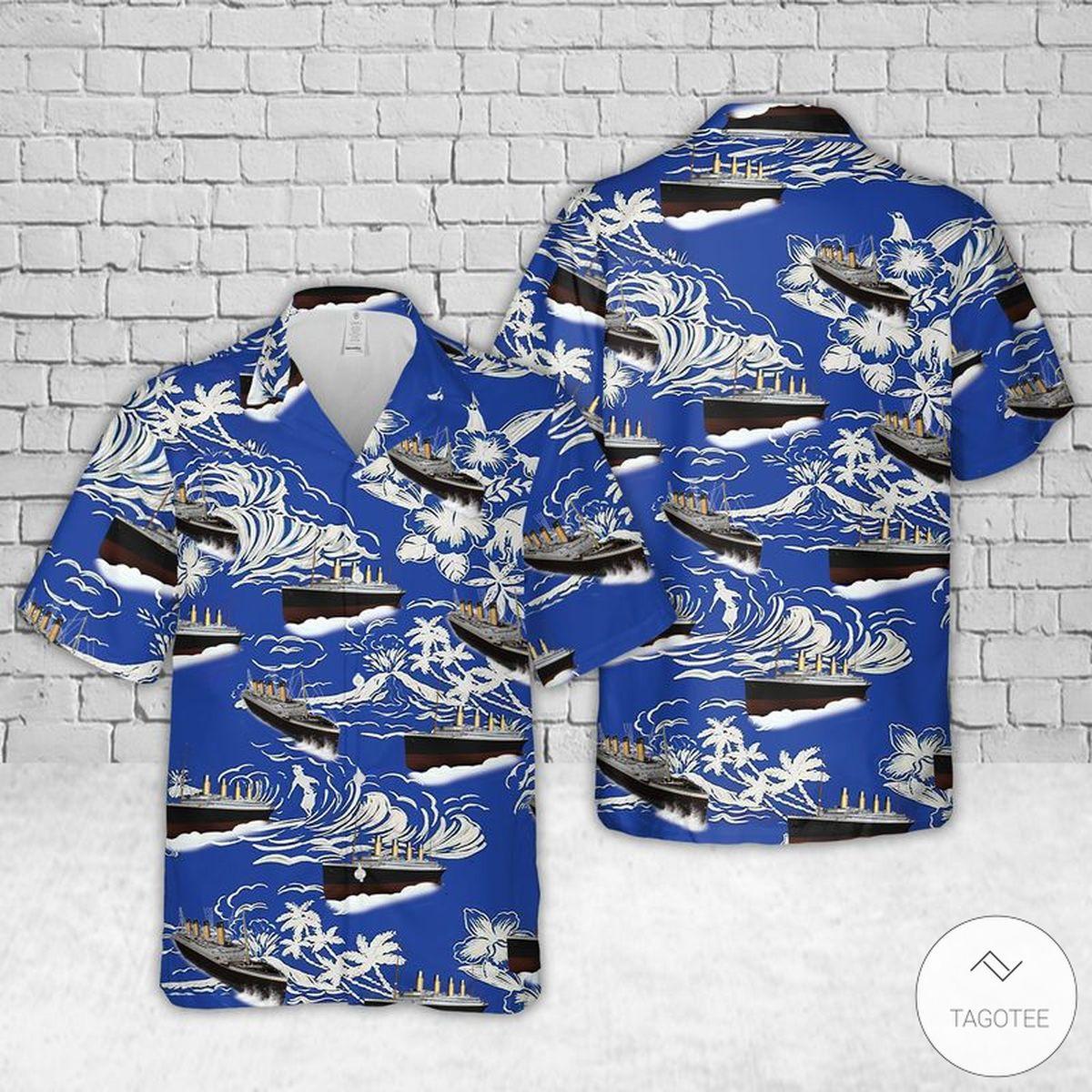 RMS Titanic Hawaiian Shirt, Beach Shorts