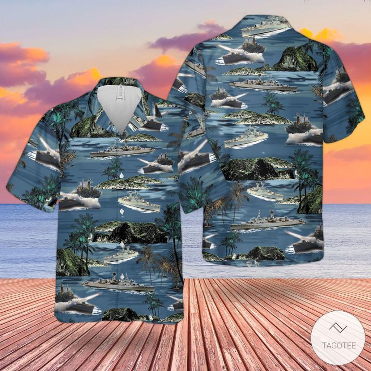Rn County-Class Guided Missile Destroyer Hawaiian Shirt, Beach Shorts