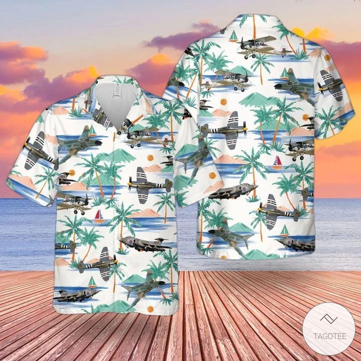Rn Historical Aircrafts Hawaiian Shirt, Beach Shorts