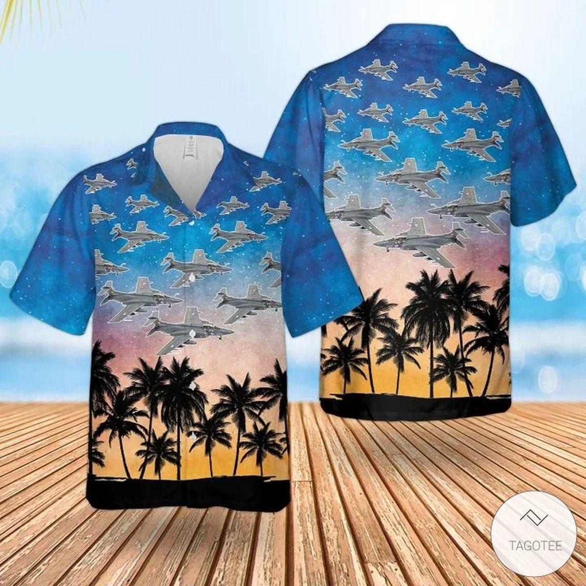 Rn Historical Blackburn Buccaneer Hawaiian Shirt, Beach Shorts