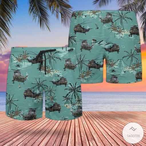 Rn Westland Sea King Hc4 (Jungly) Hawaiian Shirt, Beach Shortsz