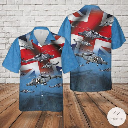 Royal Navy Agustawestland Aw159 Wildcat Hma2 Ah1 Rotary Wing Hawaiian Shirt, Beach Shorts