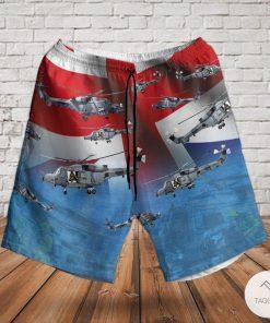 Royal Navy Agustawestland Aw159 Wildcat Hma2 Ah1 Rotary Wing Hawaiian Shirt, Beach Shortsz