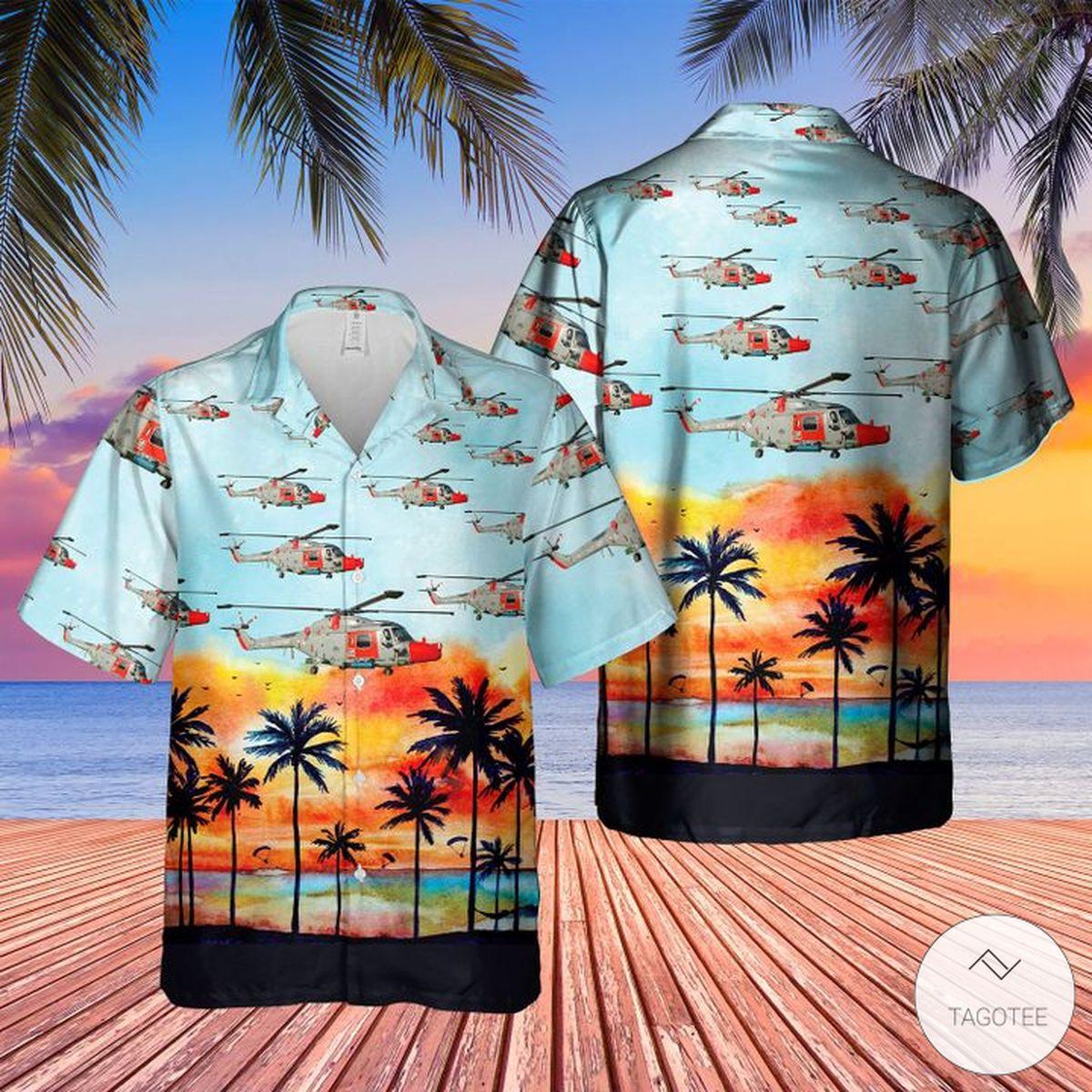 Royal Navy Lynx Has.3S Hawaiian Shirt, Beach Shorts