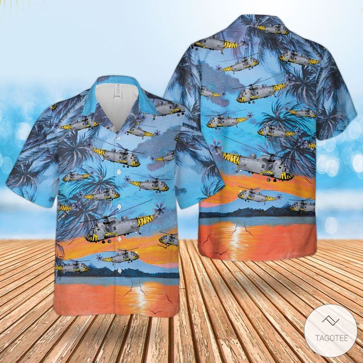 Royal Navy Westland Sea King Has.6 Hawaiian Shirt, Beach Shorts