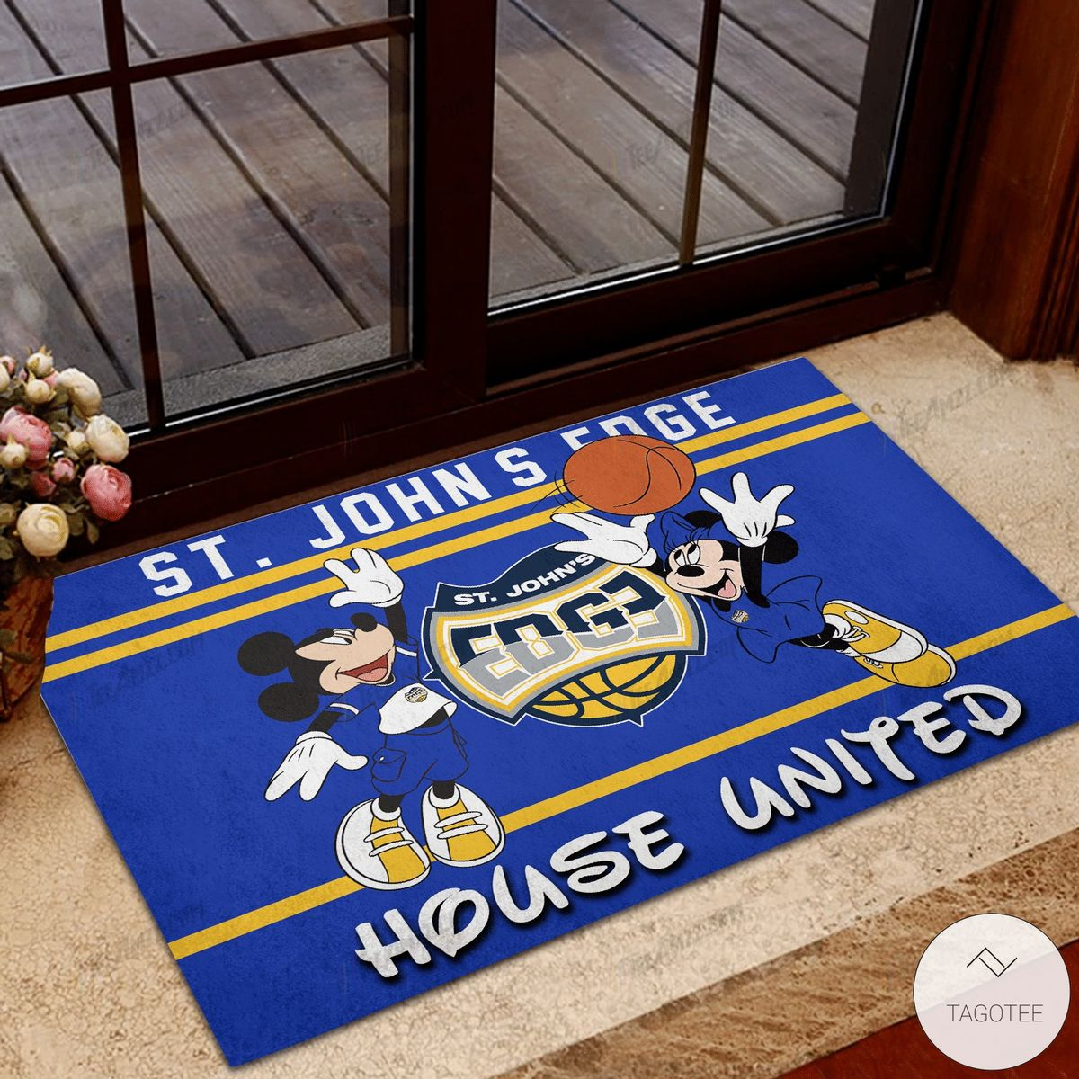 ST. John's Edge House United Mickey Mouse And Minnie Mouse Doormat