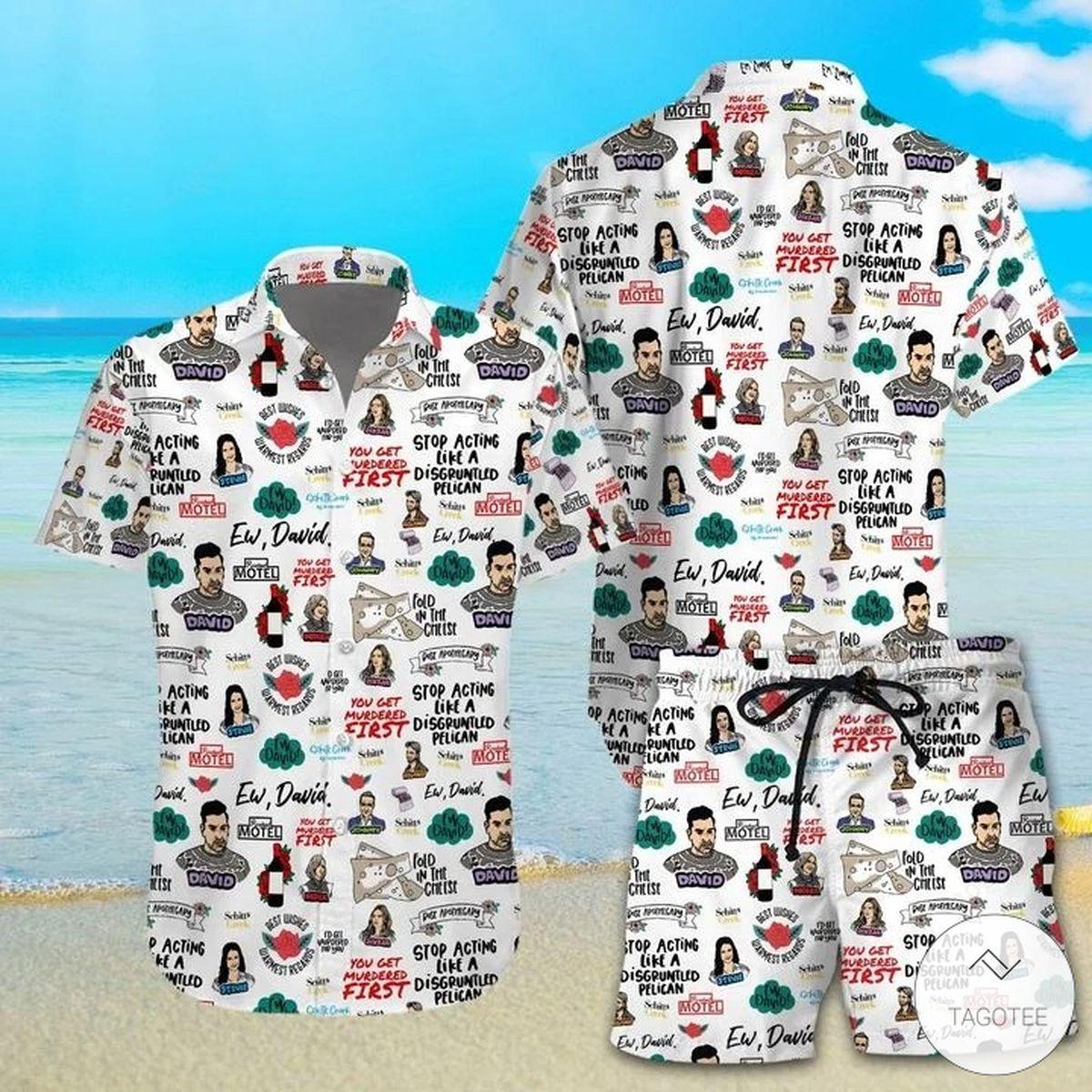Schitt's Creek Ew David Hawaiian Shirt, Beach Shortsz