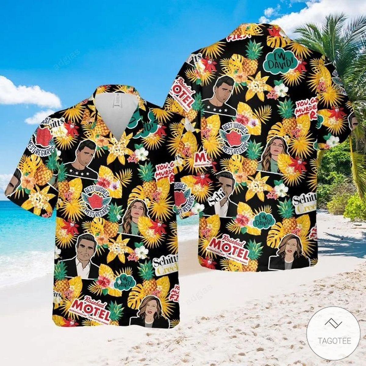 Schitt's Creek Tropical Hawaiian Shirt, Beach Shorts
