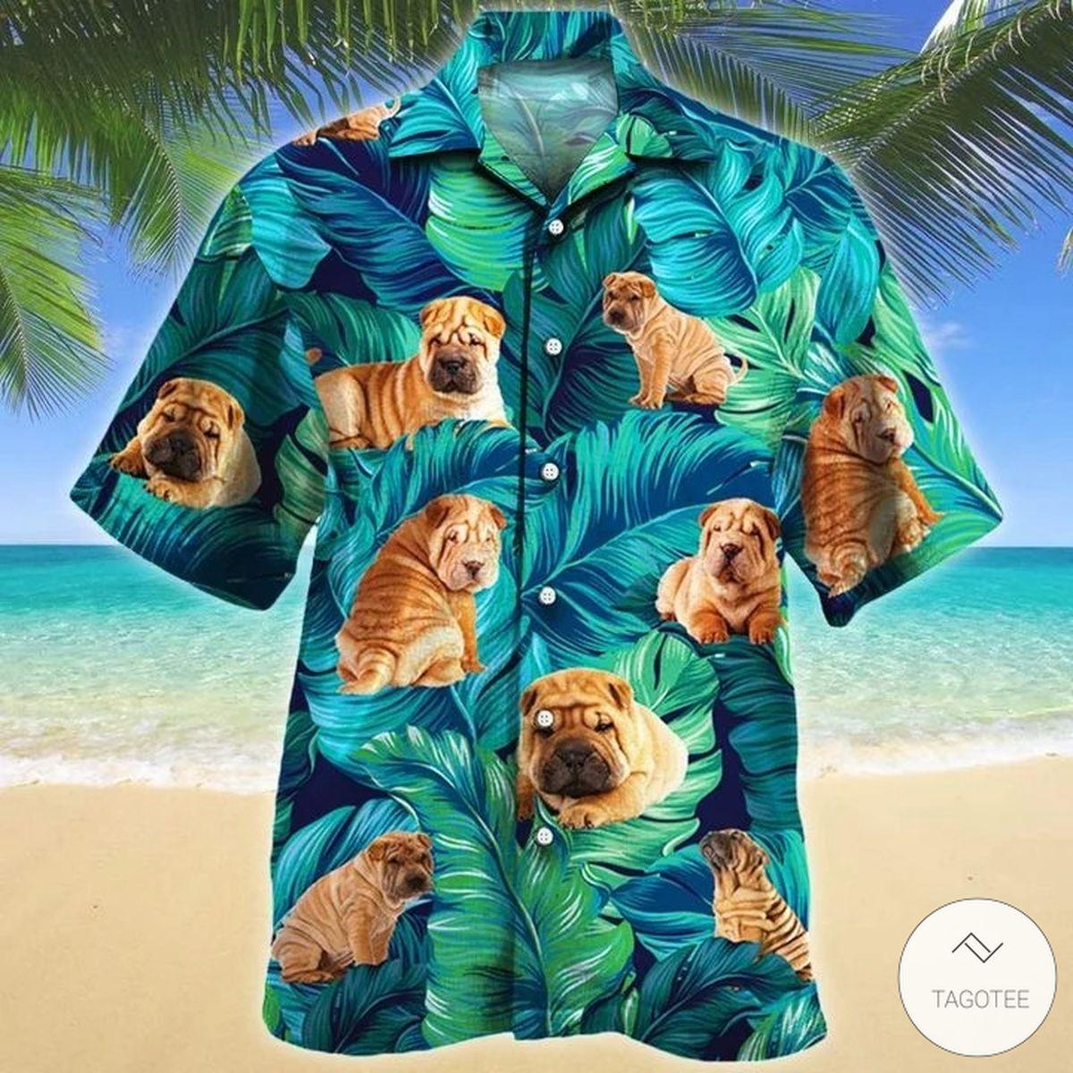Shar Pei Dog Hawaiian Shirt