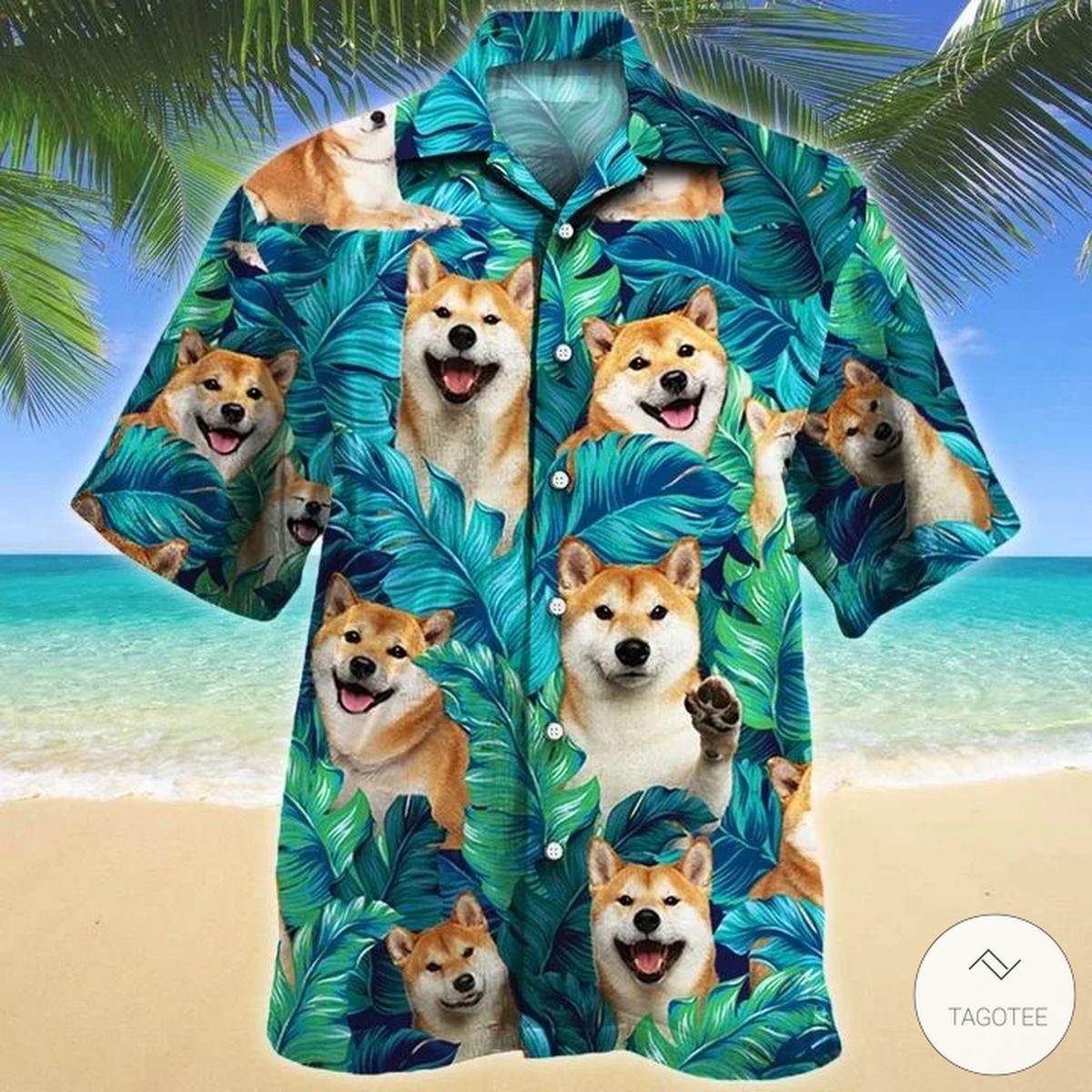 Shiba Ine Dog Hawaiian Shirt