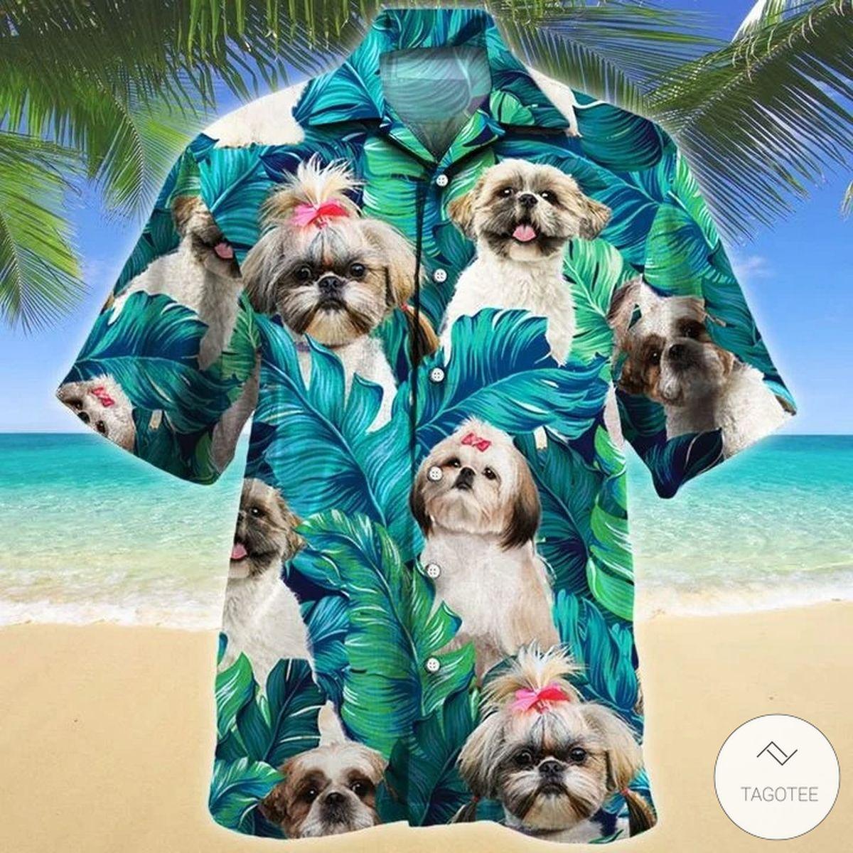Shih Tzu Dog Hawaiian Shirt