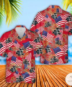 Sikorsky MH-53 Pave Low 4th July Hawaiian Shirt, Beach Shorts