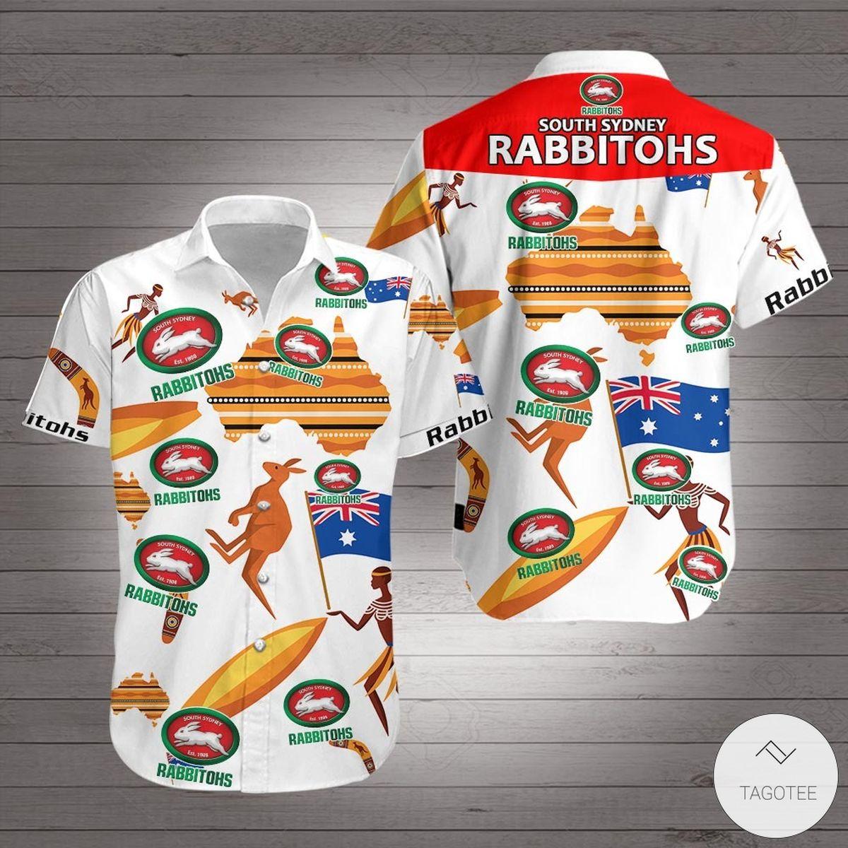South Sydney Rabbitohs Hawaiian Shirt