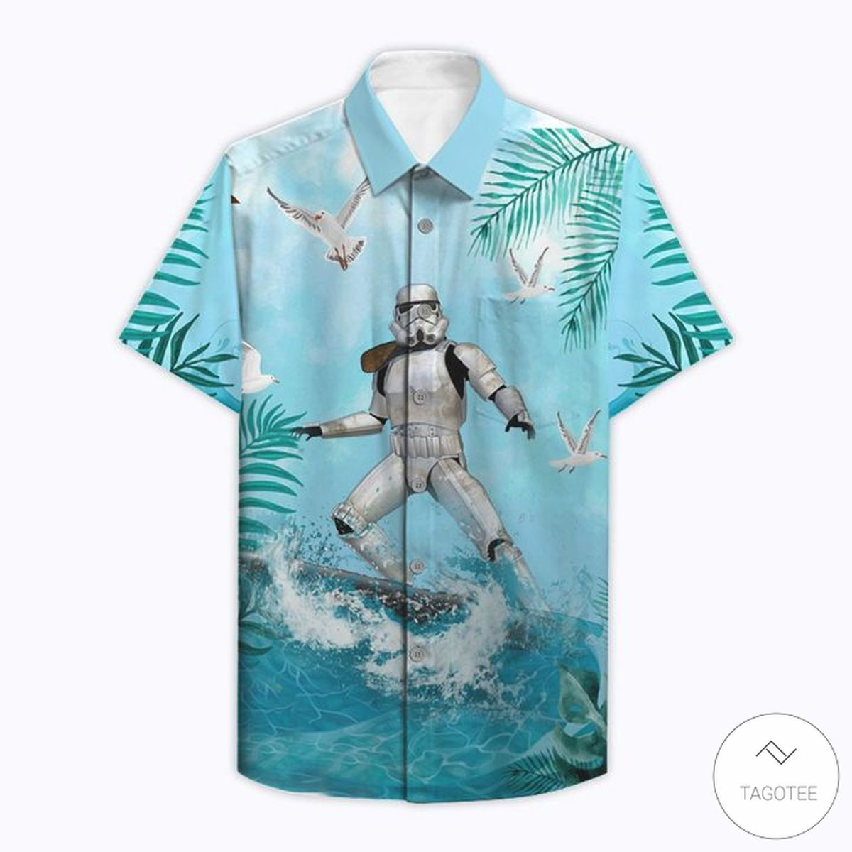 3D Star Wars Stormtrooper Surfing Hawaiian Shirt