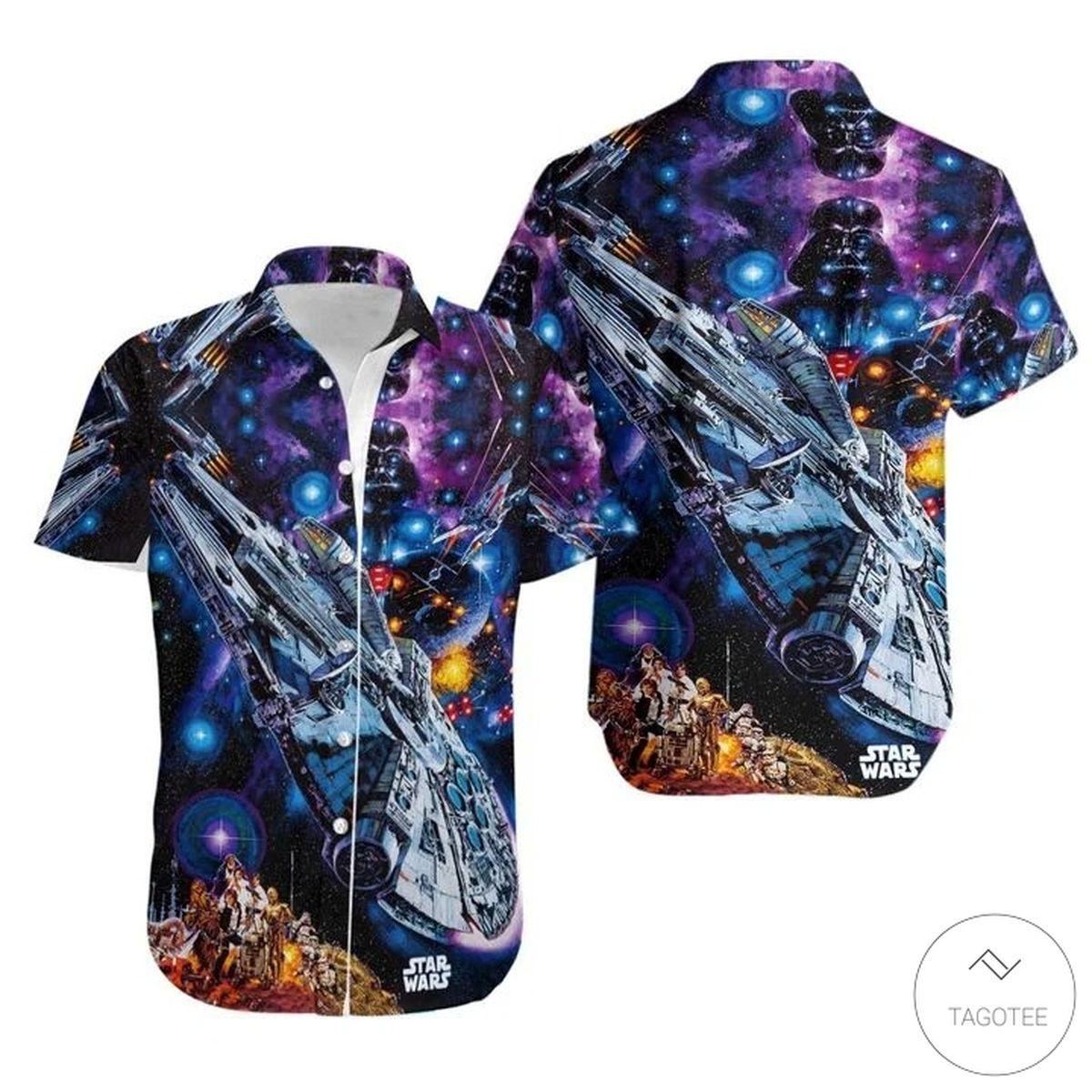 Star Wars The Mandalorian Starship Hawaiian Shirt
