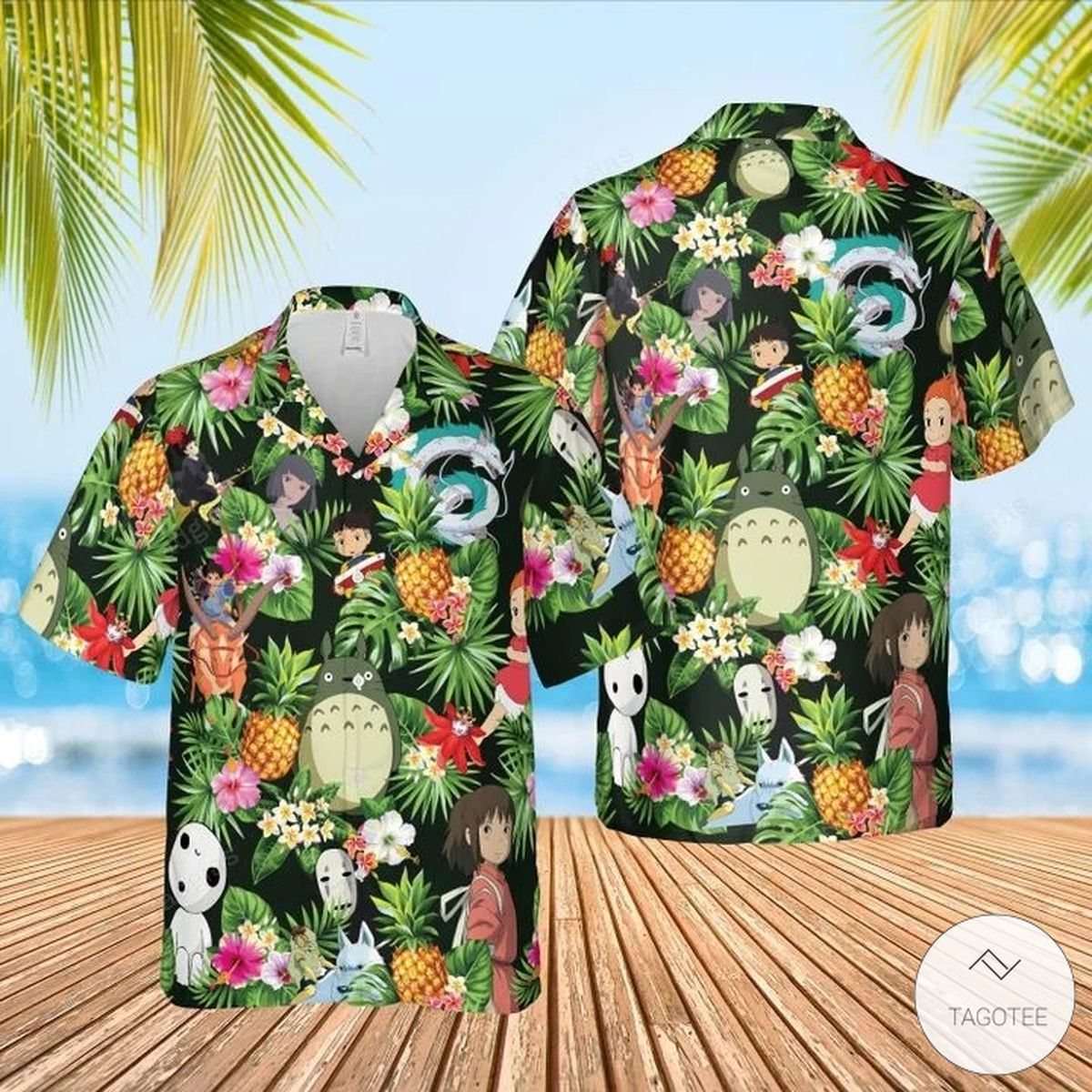 Studio Ghibli Hawaiian Shirt, Beach Shorts