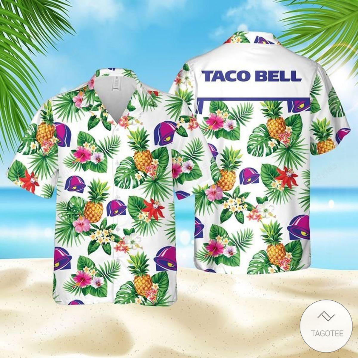 Free Taco Bell Hawaiian shirt, Beach Shorts