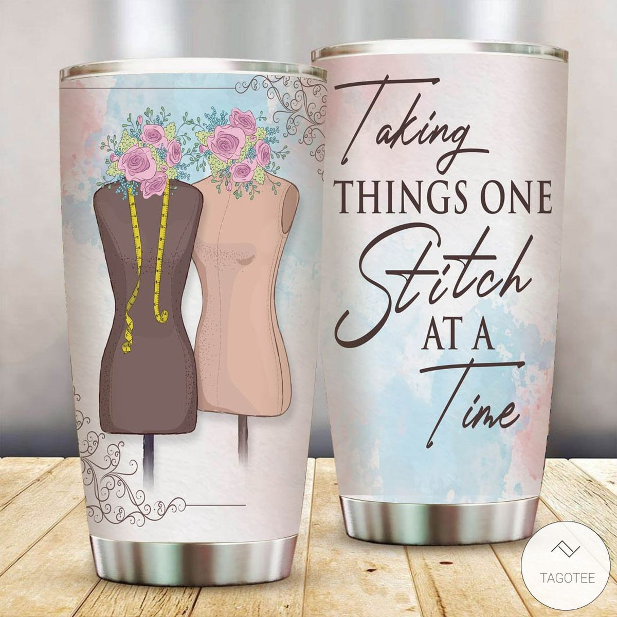 Taking Things One Stitch At A Time Tumbler