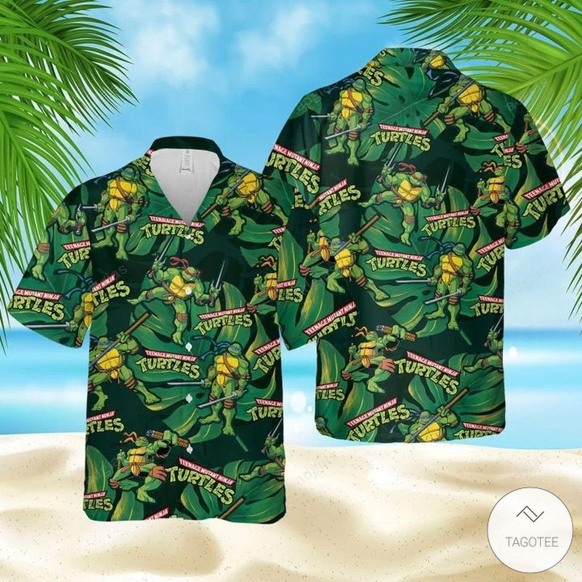 Teenage Mutant Ninja Turtles Hawaiian Shirt, Beach Shorts