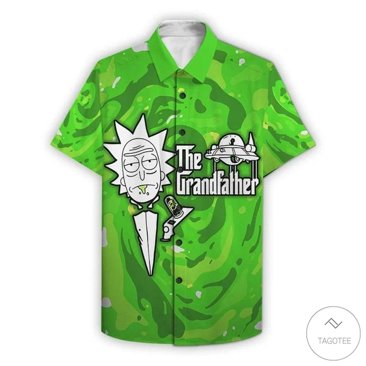 The Grandfather Rick And Morty Hawaiian Shirt
