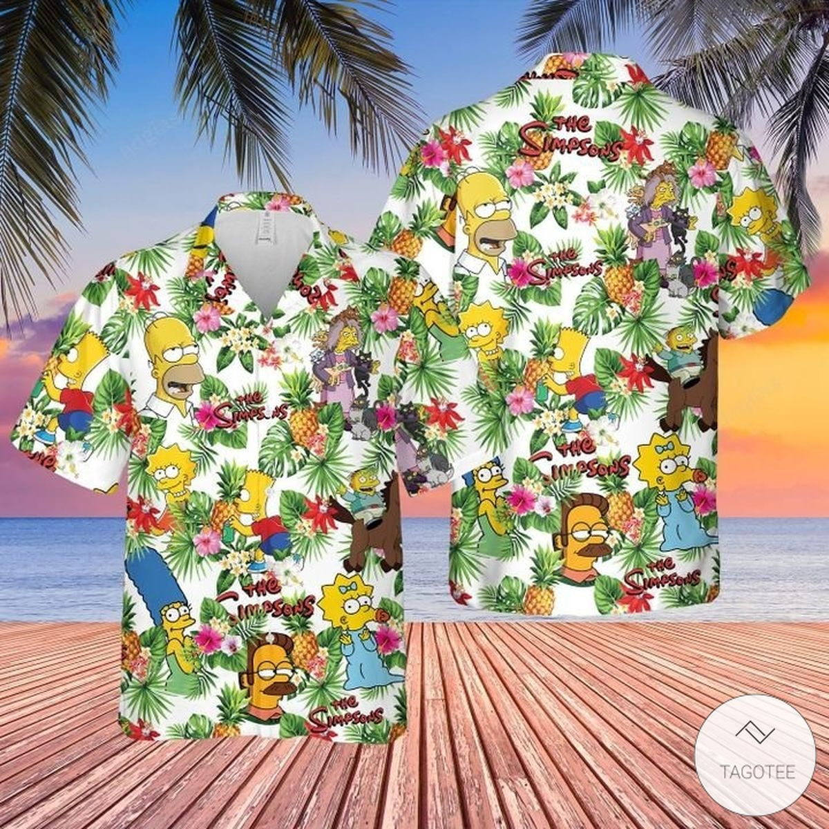 The Simpsons Tropical Hawaiian Shirt, Beach Shorts