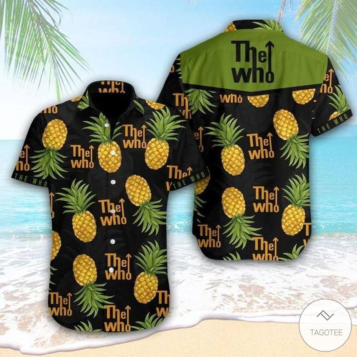 Amazon The Who Pineapple Hawaiian Shirt