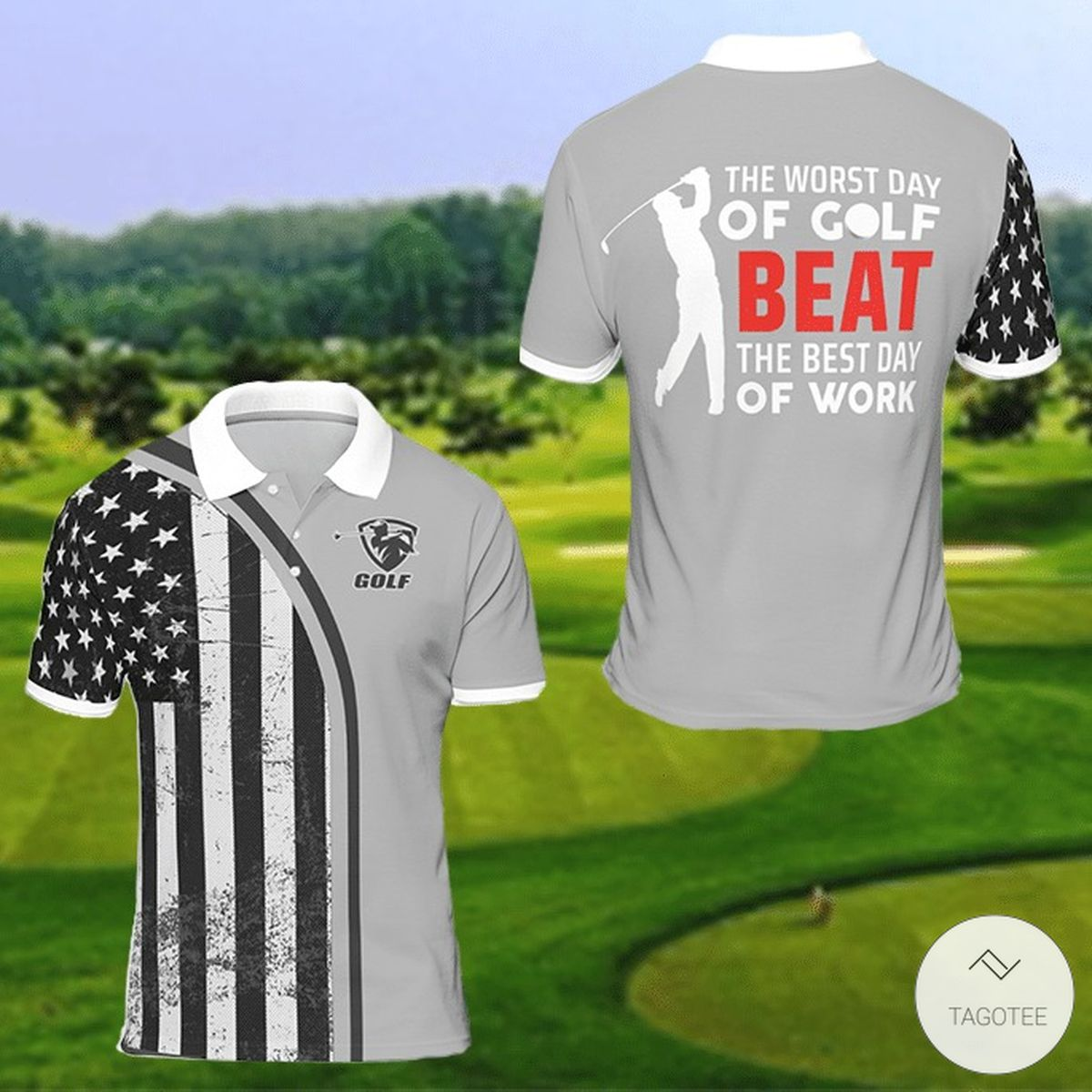 The Worst Day Of Golf Beat The Best Day Of Work Polo Shirt